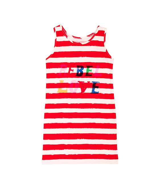 Tank Dress - Red Stripes