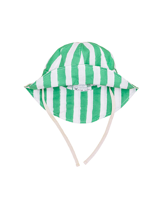 Summer Hat - Green Stripes ★ONLY 18-24M★