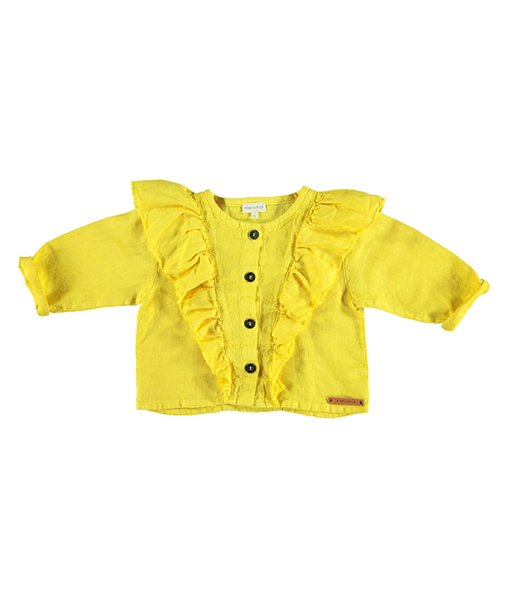 Jacket With Frills - Yellow