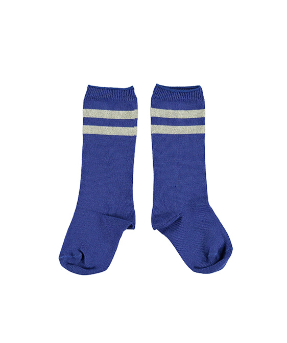 Socks - Blue With Golden Stripes