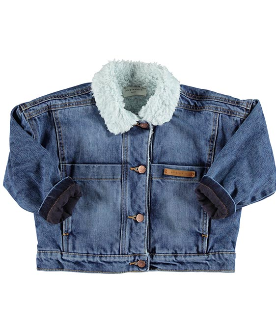 Bomber Washed Blue Denim Jeans Jacket ◆9월 중순 배송 예정◆