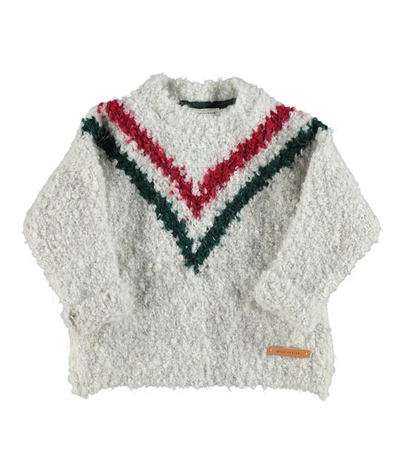 """V"" Knitted Sweater - Ecru"