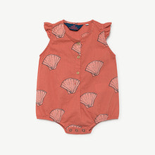 Butterfly Baby Suit - Red Shells