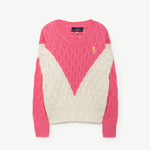 Toucan Kid Sweater - Fuchsia Black Logo