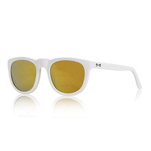Bobby Sunglasses - White+Mirror