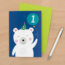 Polar Bear 1st B-Day Card