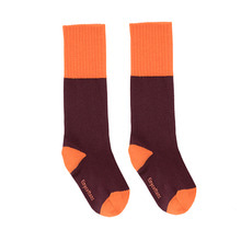 Rice Loop High Socks - Plum/Red