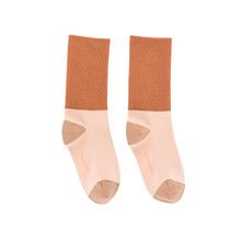 Rib Medium Socks - Nude/Terracotta