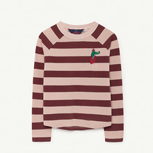 Cricket Kids T-Shirt - Rose Maroon Stripes ★ONLY 10Y★