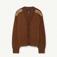 Plain Peasant Kids Cardigan - Deep Brown