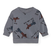 Cats And Dogs Round Neck Sweatshirt  (Baby)