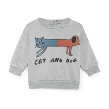 [Scratch] Cat And Dog Round Neck Sweatshirt ★ONLY 24-36M★