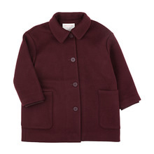 Woolen Coat - Plum