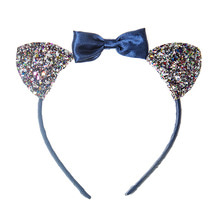 Suki Cat Ears Alice Band - Blue