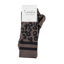 Animal Print Socks - Brown