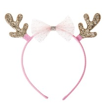 Tulle Bow Reindeer Alice Band