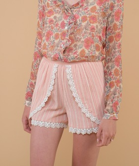 Texoma Shorts - Blush Stripes ★ONLY M★