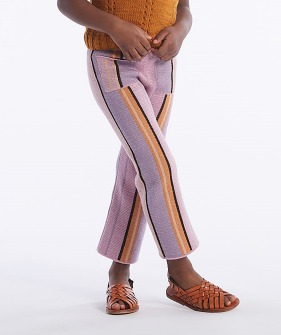 Kingston Trouser - Soft Purple Stripe