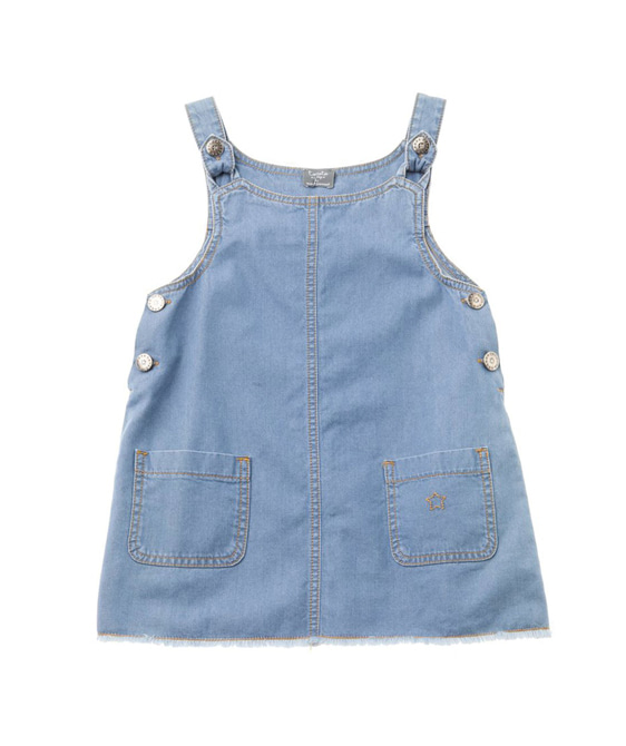 Denim Pinafore Dress #S31419 ★ONLY 3Y★