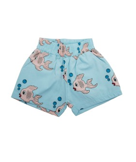 Summer Woven Short - Blue Fish ★ONLY 4Y★