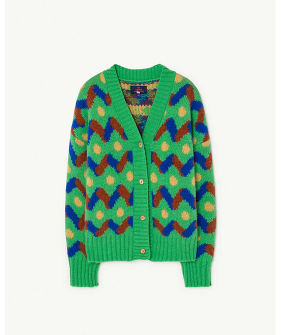Multicolor Racoon Kids Cardigan - 1078_188_XX