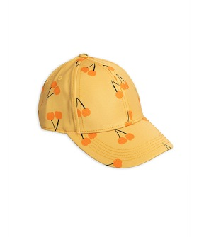 Cherry Printed Cap -  Yellow