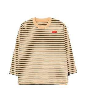 Stripes Ls Tee - Sand/True Navy
