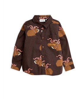 Posh Guinea Pig Shirt -  Brown