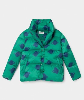 All Over Big Saturn Padded Jacket #096 ★ONLY 6-7Y★