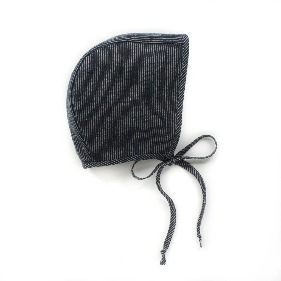 Organic Bonnet - Navy Stripe