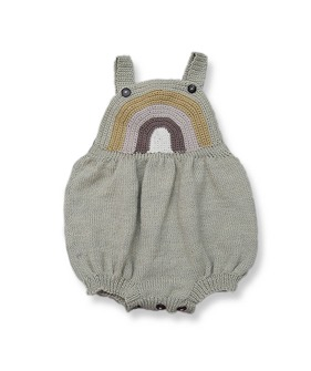 Rainbow Romper - Vintage Green Rainbow ★ONLY 18-24M★