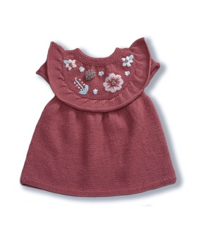 Flora Baby Dress - Deep Berry (입고지연)