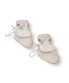 Flora Footies - Cream White