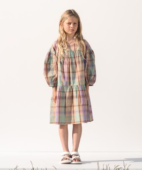 Lavande Dress - Check Orchid Bloom ★ONLY 8Y★