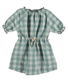 Nenuphar Dress - Vichy Turquoise ★ONLY 6Y★