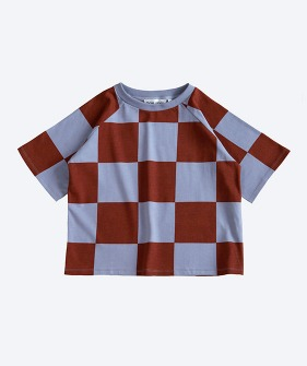 Oversized Tee - Steel Check Print_MS031