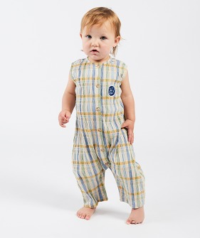 Checker Woven Overall  (Baby) #00043 ★ONLY 12-18M★