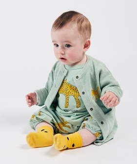 Leopard Buttoned terry Sweatshirt  (Baby) #00022 ★ONLY 18-24M★