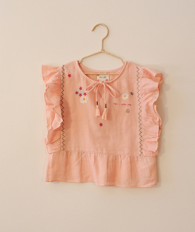 Blouse Embroidery - Peach