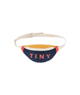 Color Block Fanny Bag - Light Navy/Yellow