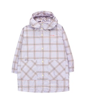 Check Raincoat - Light Lilac/Cinnamon