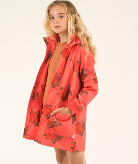 Flowers Jacket - Light Red/Red
