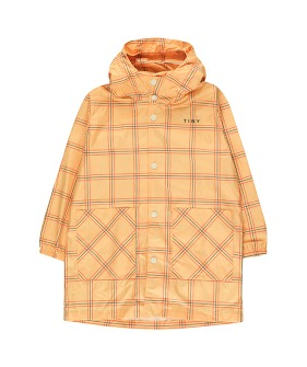 Check Raincoat - Yellow/Red