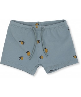 Unisex Swim Shorts - Jade/Lemon
