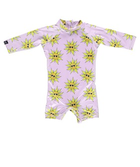 Sunny Flower Baby Suit - Lila