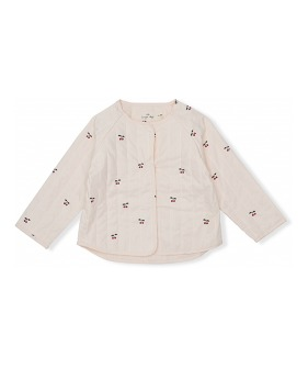 Hasla Quilted Jacket - Cherry ★ONLY 3-4Y★
