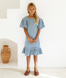 Alda Dress - Swedish Blue