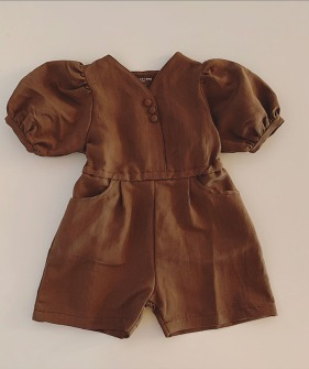 Girl Jumpsuit - Brown ★ONLY 6-7Y★