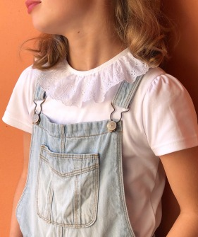 English Embroidery Collar SS Top - White ★ONLY 2Y★
