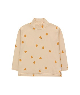 """Pears"" Mockneck Tee - Off-White/Honey"